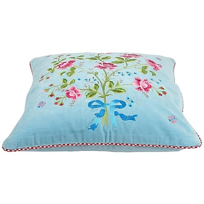 Heritage Lace PiP Studio Throw Pillow Cover; Blue