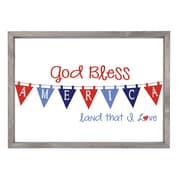 Forest Creations God Bless American Patriotic Graphic Wall Art Print