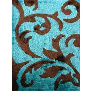 Rug Factory Plus Lola Hand-Tufted Brown/Turquoise Area Rug
