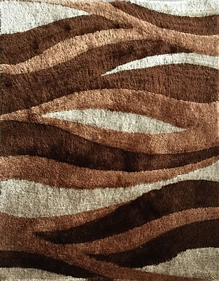 Rug Factory Plus Lola Hand-Tufted Brown Area Rug