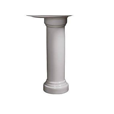 Danze Orrington Column 30'' Pedestal Bathroom Sink; White