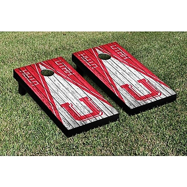 Victory Tailgate Triangle Weathered Version Cornhole; College Vault Utah Utes