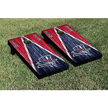 Victory Tailgate NCAA Triangle Weathered Version Cornhole Boards Game Set; Duquesne Dukes