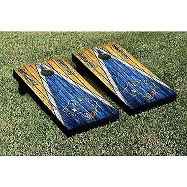 Victory Tailgate NCAA Triangle Weathered Version Cornhole Boards Game Set; Saint Marys StMU Rattlers