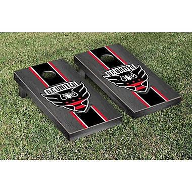 Victory Tailgate MLS Onyx Stained Stripe Version Cornhole Game Set; DC United
