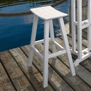 POLYWOOD  Traditional 30'' Bar Stool; White