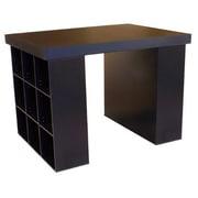 Venture Horizon Project Center 38.5'' H x 55'' W Desk w/ 2 Bookcases; Black