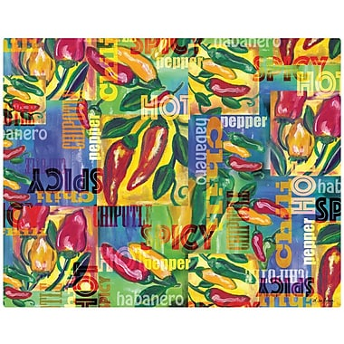 Magic Slice Chili Peppers Collage Non-Slip Flexible Cutting Board