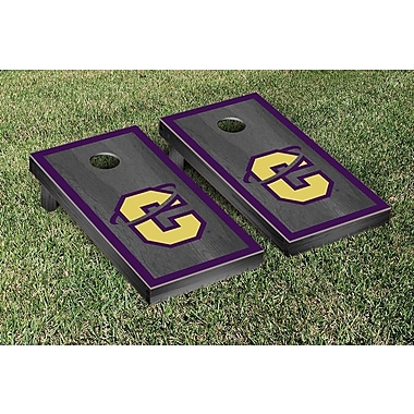 Victory Tailgate NAIA Onyx Stained Border Version Cornhole Game Set; Carroll Saints