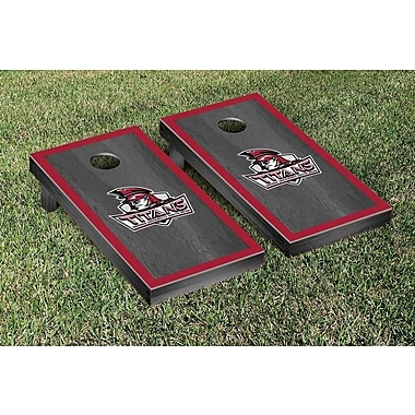 Victory Tailgate NAIA Onyx Stained Border Version Cornhole Game Set; Indiana South Bend Titans
