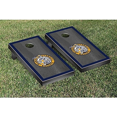 Victory Tailgate NAIA Onyx Stained Border Version Cornhole Game Set; Marian Knights