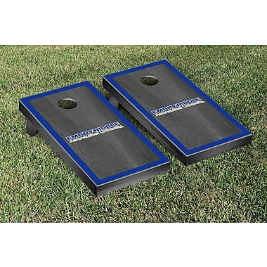 Victory Tailgate NAIA Onyx Stained Border Version Cornhole Game Set; Embry Riddle Eagles