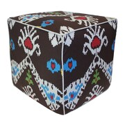 Divine Designs Tribal Ikat Pouf Ottoman