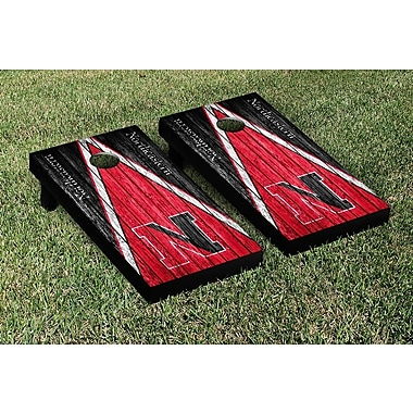 Victory Tailgate NCAA Triangle Weathered Version Cornhole Boards Game Set; Northeastern NU Huskies