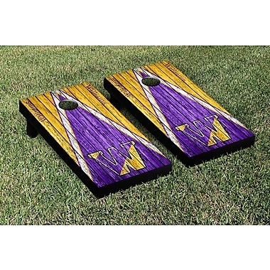 Victory Tailgate Triangle Weathered Version Cornhole; Williams College Ephs