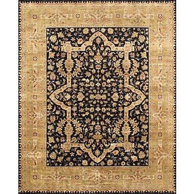 Pasargad Tabriz Hand-Knotted Black/Gold Area Rug