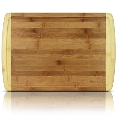 Heim Concept Organic Bamboo Cutting Board and Serving Tray w/ Drip Groove