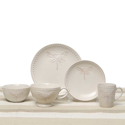 ZiaBella Dragonfly 5 Piece Place Setting, Service for 1 WYF078278964076