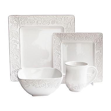 Design Guild Belinda 16 Piece Dinnerware Set, Service for 4
