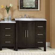 Silkroad Exclusive 53.5'' Single Sink Lavatory Cabinet Modular Bathroom Vanity Set