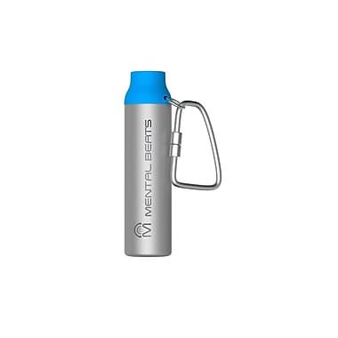 Mental Beats – 552, Chargeur de 2200 mAh en aluminium avec mousqueton, bleu