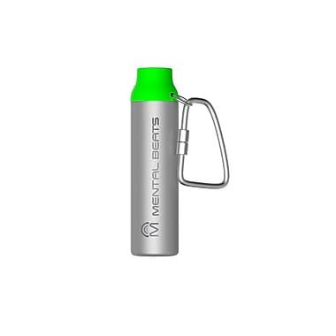 Mental Beats 553 2200mAh Aluminum Carabiner Power Bank, Green