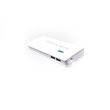 Mental Beats 587 10,000mAh Power Bank, White