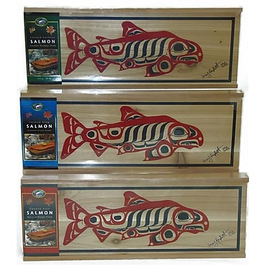 West Coast Smoked Salmon Cedar Gift Boxes, Pink, King, and Sockeye, 454 grams/Box