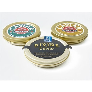 Northern Divine Sturgeon Caviar Trio Bundle, 30 grams, 3/Pack
