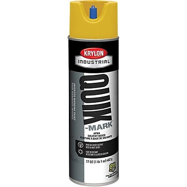 Krylon® Industrial Quik-Mark™ Inverted Marketing Paint, Safety Yellow, 17oz (A03823)