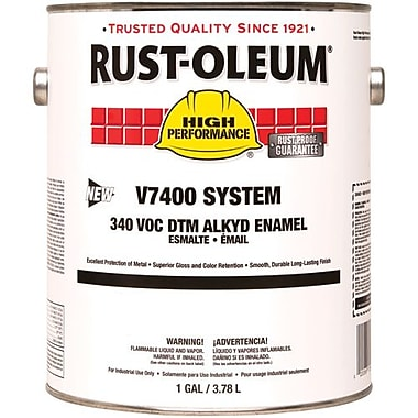 Rust-Oleum® 340 VOC DTM Alkyd Enamel Coating Paint, Flat, Black 1gal (245387)