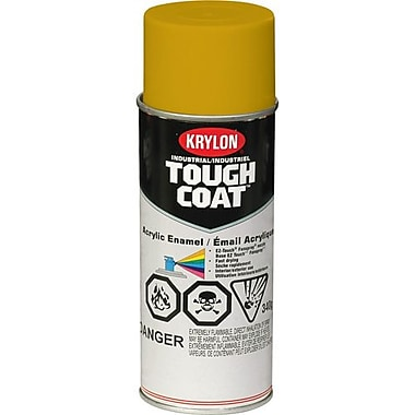Krylon® Industrial Aerosol Paint Tough Coat®, Caterpillar Yellow (Old) 16oz Ca (S013210000)