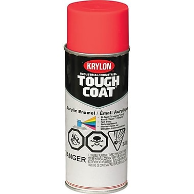 Krylon® Industrial Aerosol Paint Tough Coat®, Fluorescent Red 16oz Can (S01812)