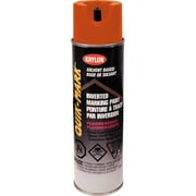 Krylon® Industrial Quik-Mark™ Fluorescent Red/Orange Solvent Based Marketing Paint 17oz (AT3701)