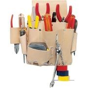KunyMC – Porte-outils en cuir pour électricien, 8 poches (EL-809)