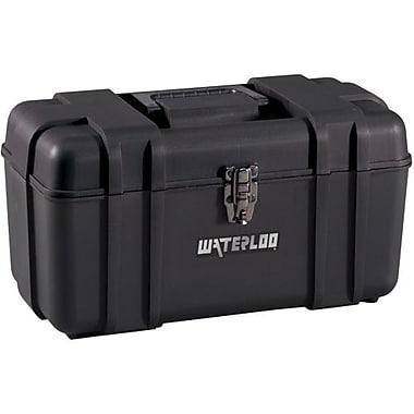 Waterloo – Boîte à outils en plastique de 17 po, noir (PP-1709BK)