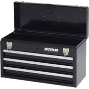 "Waterloo 20"" 3-Drawer Portable Chest, Black (MP-2012BK)"