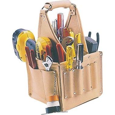 Kuny'sMC Leather – Sac tout en cuir pour outils d'électricien, beige (EL-740)