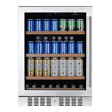 Kingsbottle KBU145B-LHH 180 Can Beverage Fridge Stainless steel