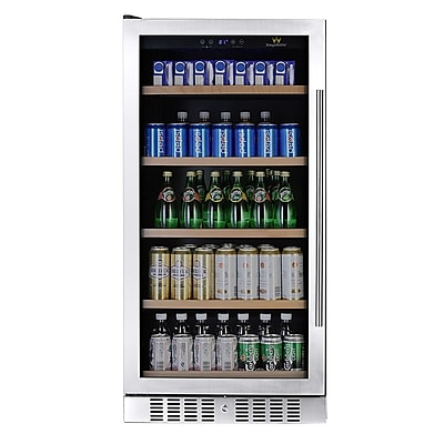 Kingsbottle KBU270B-LHH 334 Can Beverage Fridge Stainless steel