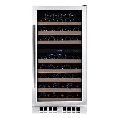 Kingsbottle KBU 270D-RHH Stainless Steel, Dual Zone Wine Cooler