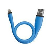 "Gear Head 10"" Flexible USB To Lightning Data Transfer/Power Cable for iPhone/iPad/iPod, Blue (LC9500BLU)"