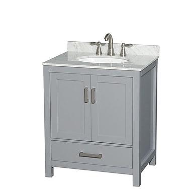 Wyndham Collection Sheffield 30'' Single Bathroom Vanity Base; Gray