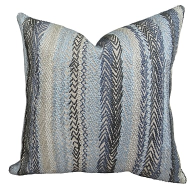 Plutus Brands Zigzag Rows Linen Throw Pillow; 22'' H x 22'' W
