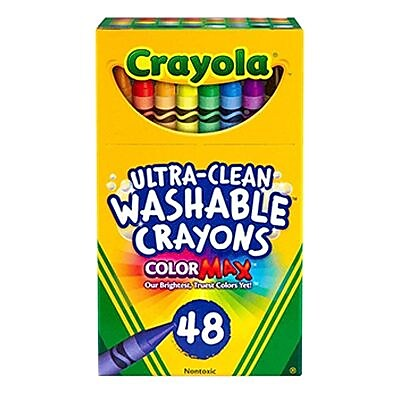 Crayola® Ultra-Clean Washable Crayons, 48/Pack (52-6948)
