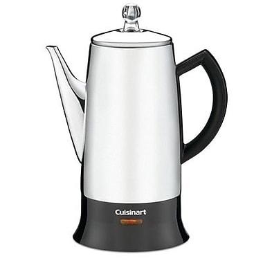Cuisinart® PRC-12FR Classic 12 Cups Percolator, Refurbished, Black/Silver