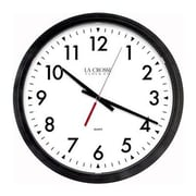 """La Crosse Technology® Indoor 13.8""""H x 13.8""""W x 2.6""""D Black Commercial Analog Wall Clock (404-2636-INT)"""