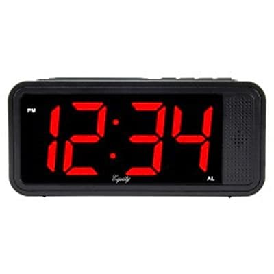 "Equity By La Crosse™ 6.5""H x 2.9""W x 2""D LED Quick Set Alarm Clock (75907)"