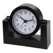 "TimeKeeper 4""H x 2""W x 3""D Black Swivel Desktop Clock (TK6851)"
