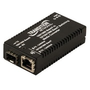 Transition Networks® RJ-45 to SFP Slot Mini Gigabit Ethernet Media Converter, Black (M/GE-PSW-SFP-01-NA)